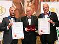 Blenheim Visitors Ltd receiving their awards for 'Blenheim Palace Natural Mineral Water - Still' (Gold for Natural Mineral Water - Still) and 'Blenheim Palace Natural Mineral Water - Sparkling' (Silver for Natural Mineral Water - Sparkling).