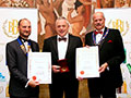 Celtic Pure receiving their awards for 'Celtic Pure Irish Still Spring Water' (Diploma for Spring Water - Still) and 'Celtic Pure Irish Sparkling Spring Water' (Gold for Spring Water - Sparkling).