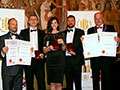 Shepherd Neame receiving their awards for 'Spitfire Gold' (Gold for Ales, abv 4.0% - 4.4%), 'Cinque' & 'Whitstable Bay Blonde' (Gold and Diploma for Lagers, abv 4.0% - 5.5%) and 'Orchard View' (Gold for Ciders, abv 4.0% - 5.4%).